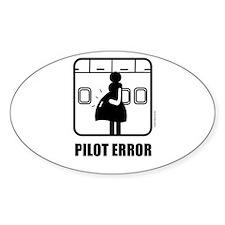*NEW DESIGN* Pilot Error Oval Decal