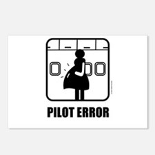 *NEW DESIGN* Pilot Error Postcards (Package of 8)