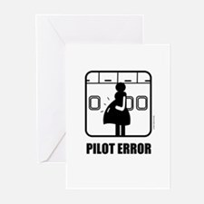*NEW DESIGN* Pilot Error Greeting Cards (Package o