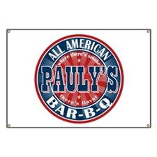 Pauly's All American BBQ Banner