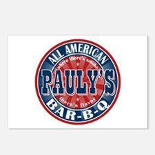 Pauly's All American BBQ Postcards (Package of 8)