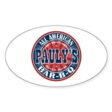 Pauly's All American BBQ Oval Decal