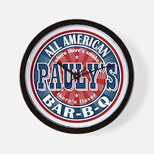 Pauly's All American BBQ Wall Clock