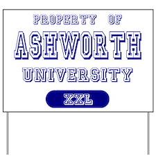 Property of Ashworth University Yard Sign