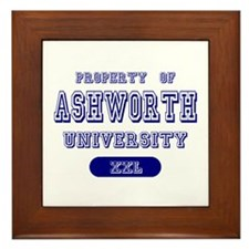 Property of Ashworth University Framed Tile