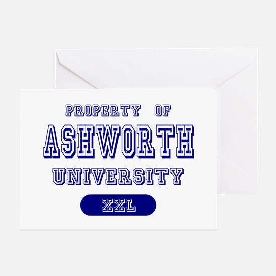 Property of Ashworth University Greeting Card