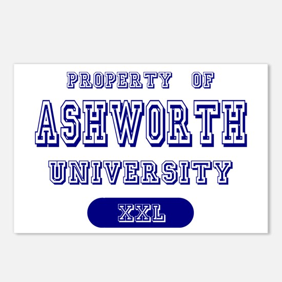 Property of Ashworth University Postcards (Package