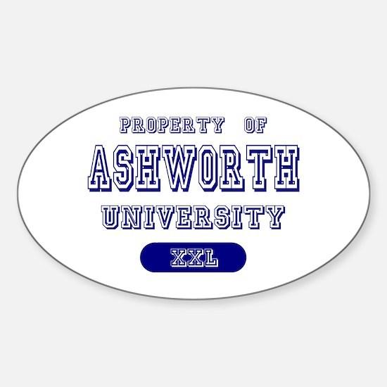 Property of Ashworth University Oval Decal