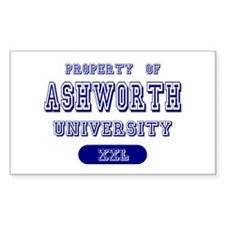Property of Ashworth University Decal