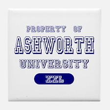 Property of Ashworth University Tile Coaster