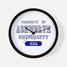 Property of Ashworth University Wall Clock