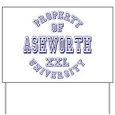 Property of Ashworth University XXL Yard Sign