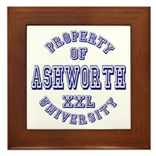 Property of Ashworth University XXL Framed Tile