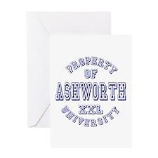 Property of Ashworth University XXL Greeting Card