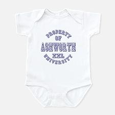 Property of Ashworth University XXL Infant Bodysui