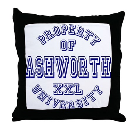 Property of Ashworth University XXL Throw Pillow