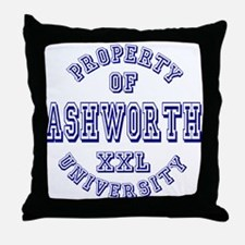 Property of Ashworth University XXL Throw Pillow