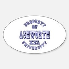 Property of Ashworth University XXL Oval Decal