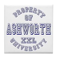 Property of Ashworth University XXL Tile Coaster