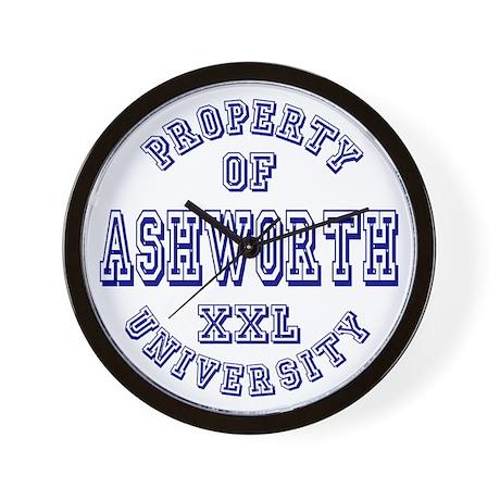 Property of Ashworth University XXL Wall Clock