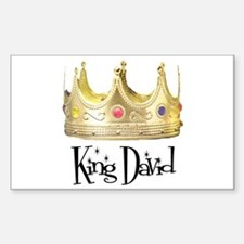 King David Rectangle Decal