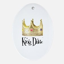 King David Oval Ornament
