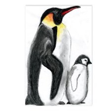 Penguin and Chick Postcards (Package of 8)