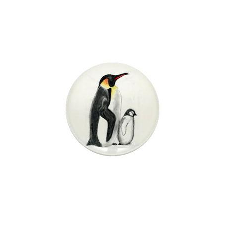 Penguin and Chick Mini Button