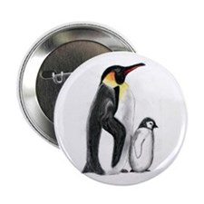 """Penguin and Chick 2.25"""" Button"""