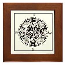 Celtic Winged Horses Framed Tile