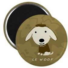 """Le Woof 2.25"""" Magnet (100 pack)"""