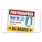 WTD: Credentials Rectangle Sticker