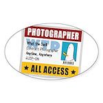 WTD: Credentials Oval Sticker (10 pk)