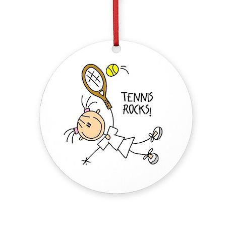Tennis Rocks! Ornament (Round)