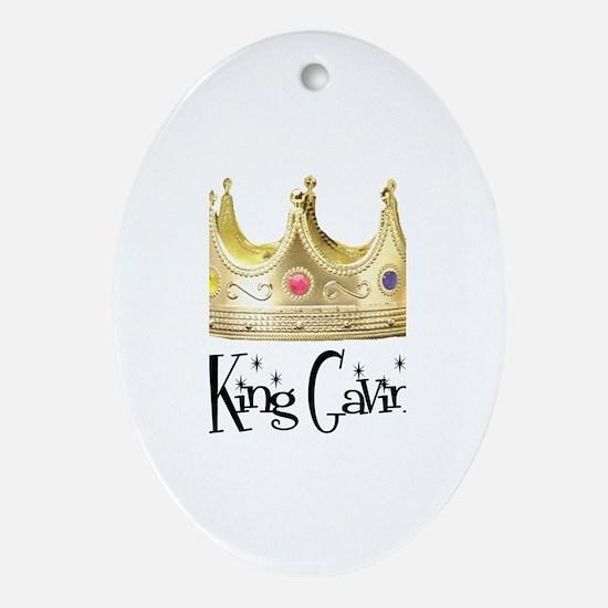 King Gavin Oval Ornament