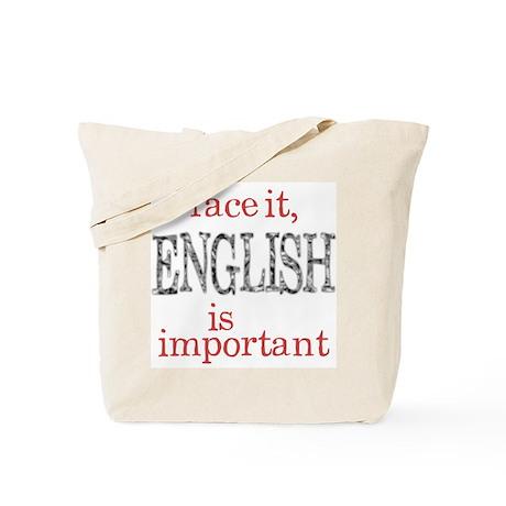 English Important Tote Bag