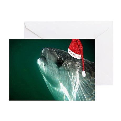 Ho Ho Ho Whale Shark Greeting Cards (Pk of 10)