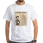 General Custer White T-Shirt