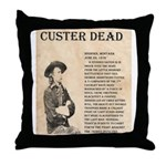 General Custer Throw Pillow