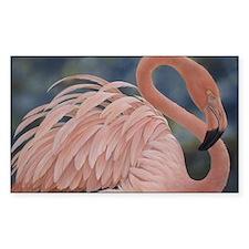 Flamingo Rectangle Decal