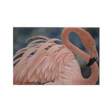 Flamingo Rectangle Magnet