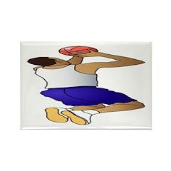 Basketball Gift Rectangle Magnet (100 pack)