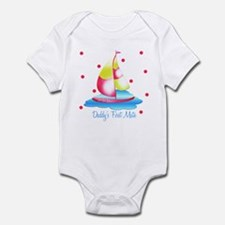 Daddy's First Mat Sailboat Baby Infant Bodysuit