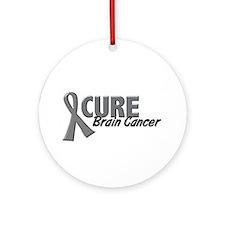 CURE Brain Cancer 1.2 Ornament (Round)