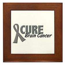 CURE Brain Cancer 1.2 Framed Tile