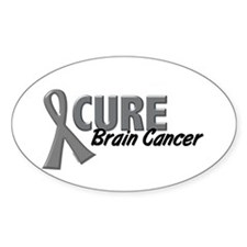 CURE Brain Cancer 1.2 Oval Sticker (10 pk)