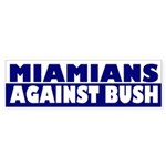 Miamians Against Bush (bumper sticker)