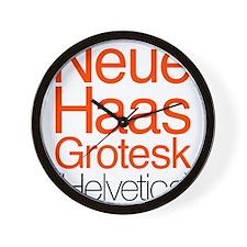 Neue Haas Grotesk Wall Clock