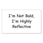I'm Not Bald Rectangle Sticker 10 pk)