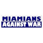 Miamians Against War bumper sticker